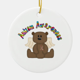 Autism Awareness (boy bear) Ceramic Ornament