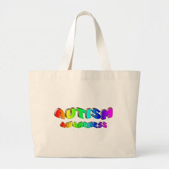 Autism Awareness (Bright) Large Tote Bag