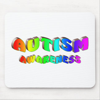 Autism Awareness (Bright) Mouse Pad