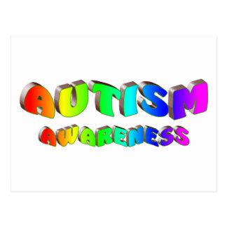 Autism Awareness (Bright) Postcard
