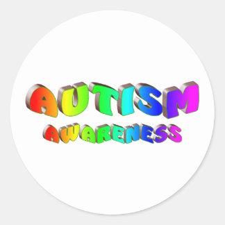 Autism Awareness Bright Sticker