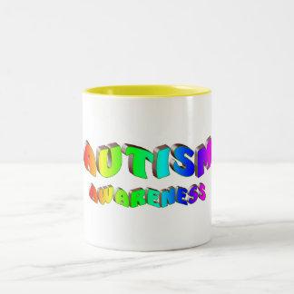Autism Awareness (Bright) Two-Tone Coffee Mug