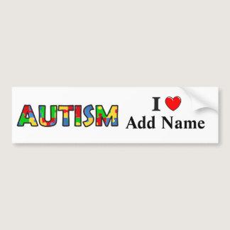 Autism Awareness Bumper Sticker Customize