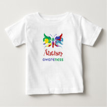 Autism Awareness Butterfly Baby T-Shirt