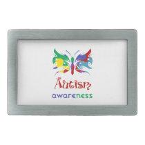 Autism Awareness Butterfly Belt Buckle