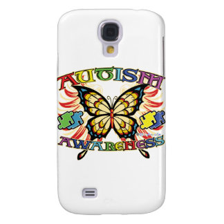 Autism Awareness Butterfly Galaxy S4 Cases