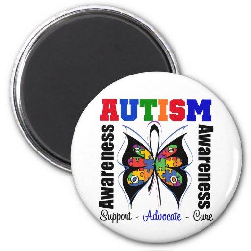 Autism Awareness Butterfly Fridge Magnet