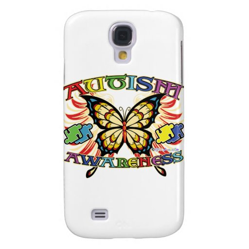 Autism Awareness Butterfly Galaxy S4 Cover