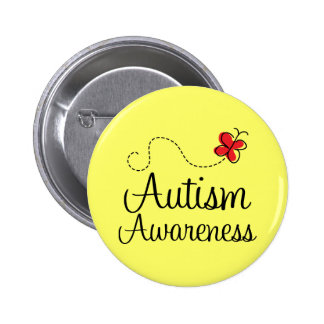 Autism Awareness Butterfly Gift 2 Inch Round Button