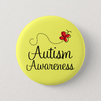 Autism Awareness Butterfly Gift Pinback Button