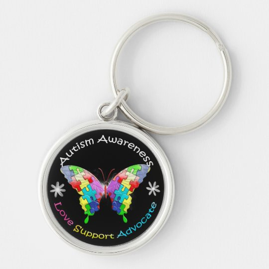 Autism Awareness Butterfly Keychain