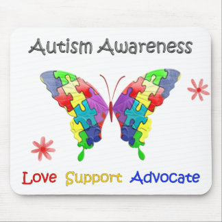 Autism Awareness Butterfly Mouse Pad