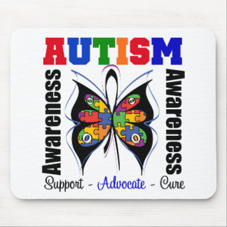 Autism Awareness Butterfly Mouse Mats
