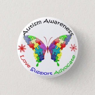 Autism Awareness Butterfly Pinback Button