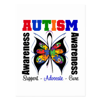 Autism Awareness Butterfly Postcards