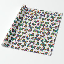 Autism Awareness Butterfly Puzzle Pattern Wrapping Paper