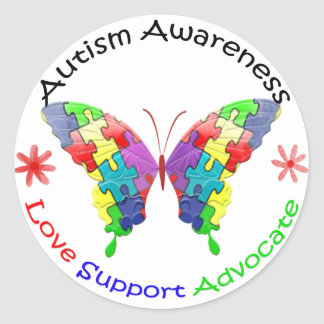 Autism Awareness Butterfly Stickers