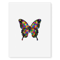 Autism Awareness Butterfly Temp Tattoo