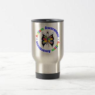 Autism Awareness Butterfly Travel Mug