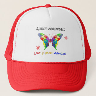 Autism Awareness Butterfly Trucker Hat