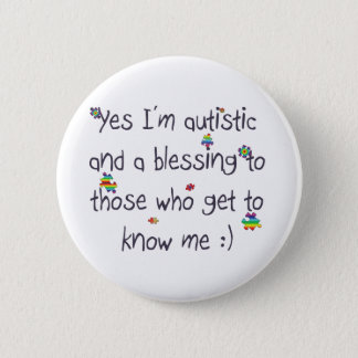 Autism awareness button