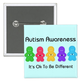 Autism Awareness 2 Inch Square Button