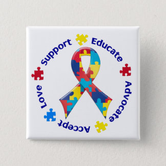 Autism Awareness Button