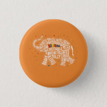 Autism Awareness Button: Elephant Button