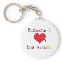 Autism Awareness Button Keychain