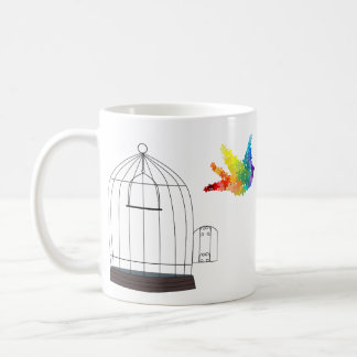 Autism Awareness Caged Bird Mug