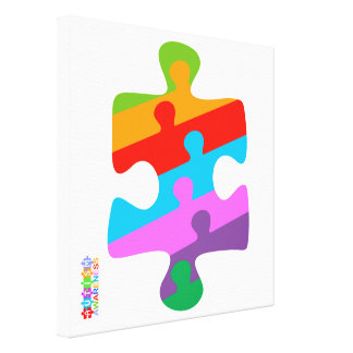 Autism Awareness Stretched Canvas Prints
