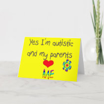 Autism awareness card
