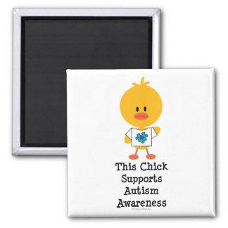 Autism Awareness Chick Magnet
