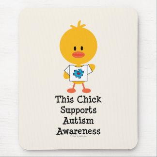Autism Awareness Chick Mousepad
