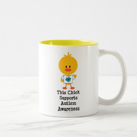 Autism Awareness Chick Mug