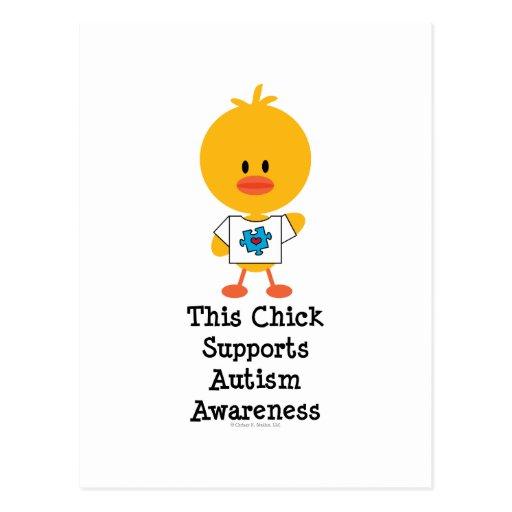 Autism Awareness Chick Postcard