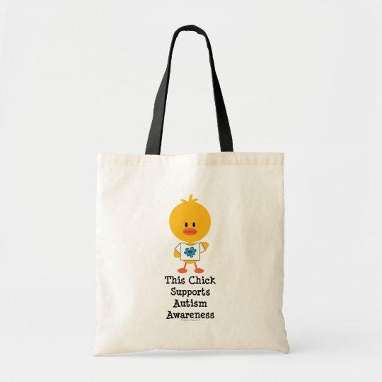 Autism Awareness Chick Tote Bag