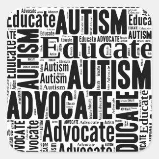 Autism Awareness Circle Design GoTeamKate Square Sticker