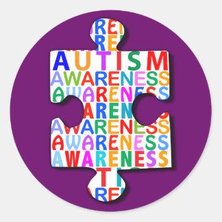 Autism Awareness Classic Round Sticker