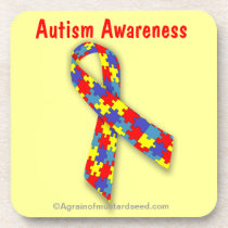 Autism Awareness Coaster