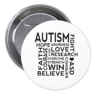 Autism Awareness Collage 3 Inch Round Button