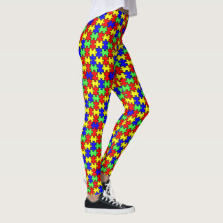 Autism Awareness Colorful Puzzle Leggings