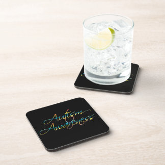Autism Awareness Cork Coaster