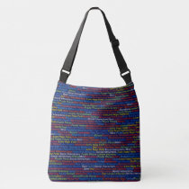 Autism Awareness   - Cross Body Bag, Medium Crossbody Bag