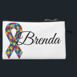 """Autism Awareness custom clutch<br><div class=""""desc"""">printed on both sides. Add your name and create your perfect bag</div>"""