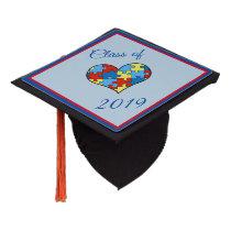 Autism Awareness Custom Graduation Cap Topper