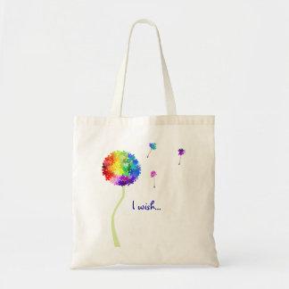 Autism Awareness Dandelion Wishes Bag