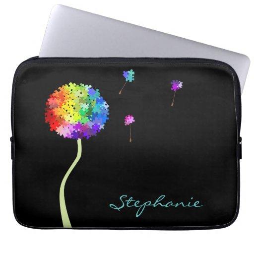 Autism Awareness Dandelion Wishes Electronics Bag Laptop Computer Sleeves