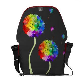 Autism Awareness Dandelion Wishes Rickshaw Messeng Messenger Bag