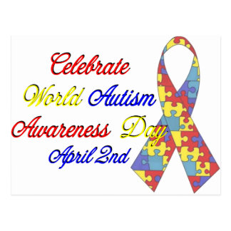 Autism Awareness Dayu Postcard